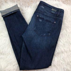 Paige Swall distressed skinny stretch jeans sz 30